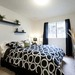 Spacious light filled bedroom at our Lakewood apartment rentals