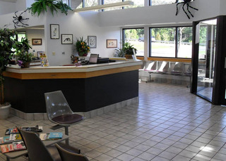 Front desk area at Oley Valley Animal Clinic