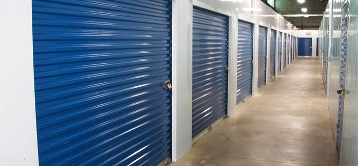 Interior self storage units for rent