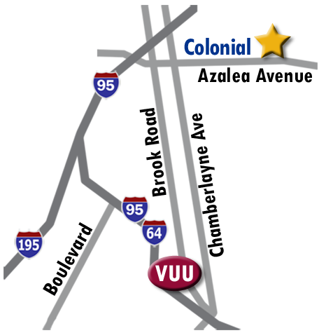 Map of VUU campus