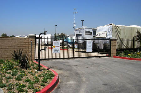 Our storage units in Moreno Valley CA are protected by a gated entrance
