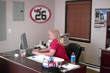 Front office at RV storage in Moreno Valley