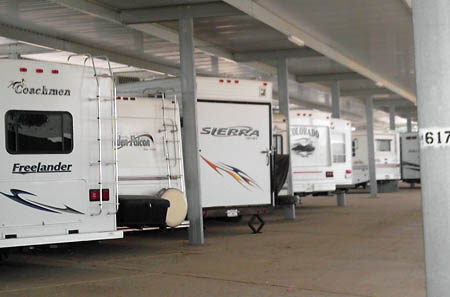 Moreno Valley RV storage offers a variety of parking spaces for your vehicles