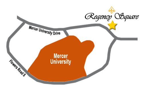 Direction to Mercer from Regency Square.