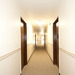 Bright, clean hallways at Ellsworth Apartments, Bridgeport apartments
