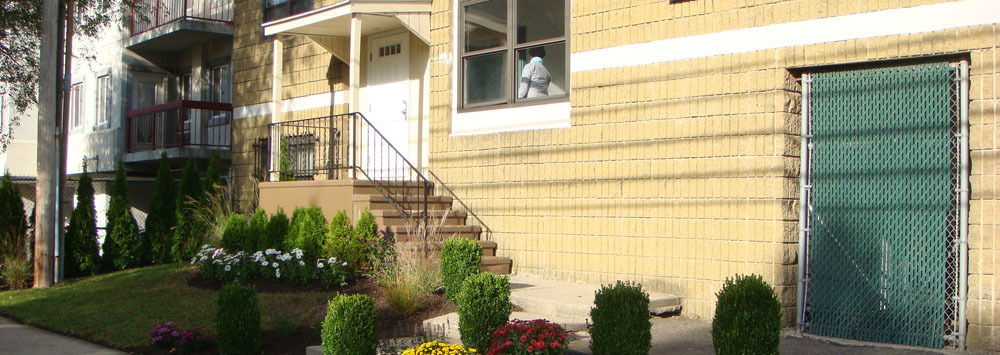 Exterior building at our apartments for rent in Bridgeport, CT 06604