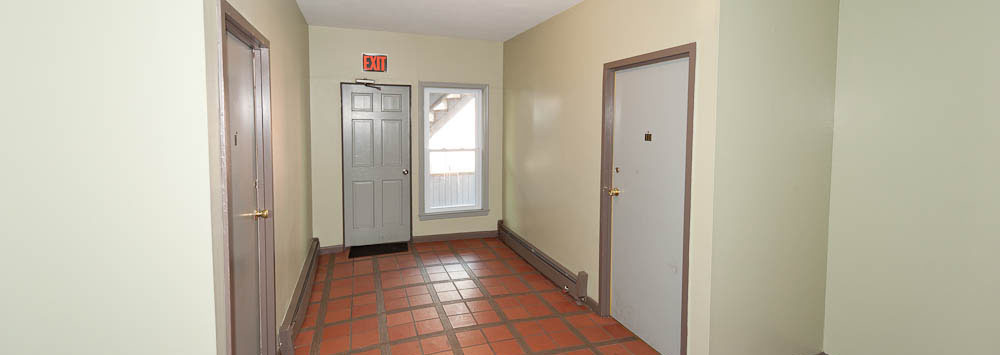 Wide hallways at our apartments for rent in Bridgeport, CT 06604