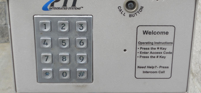 Secure keypad entry at Self Storage Plus
