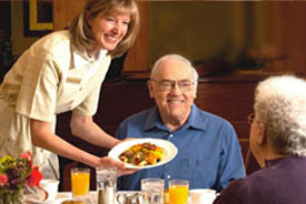 Dining options at Highgate Senior Living