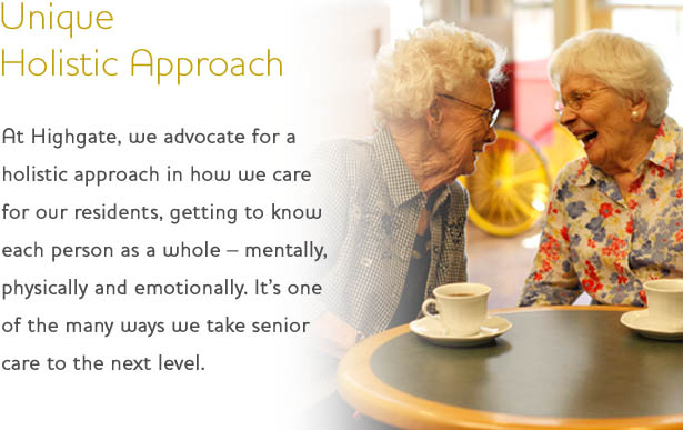 Holistic approach at Highgate Senior Living
