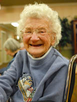 Senior woman at our assisted living dementia care community in Tustin, California.