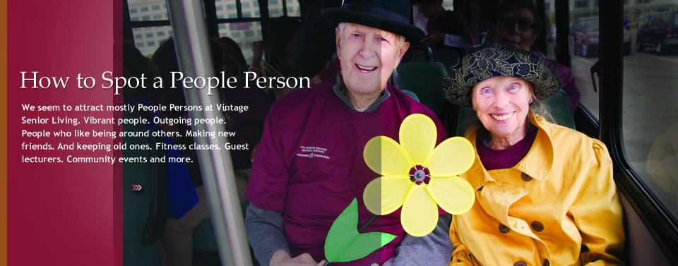People person homepage Vintage Senior Living