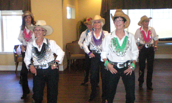 Community line dancing Highgate Senior Living