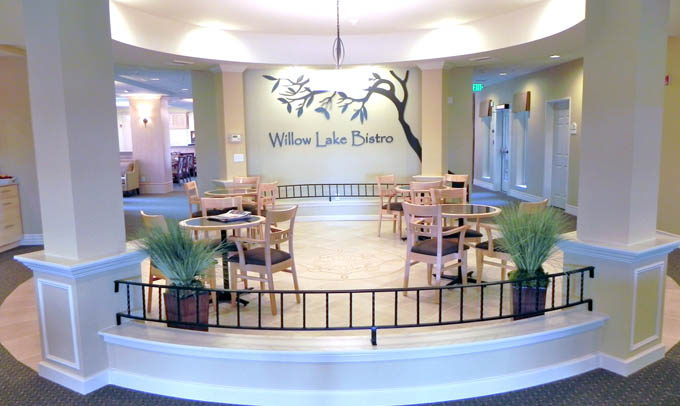 Willow lake bistro Highgate Senior Living
