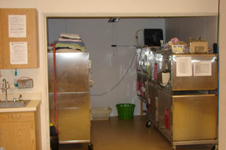 Small kennels at veterinarian in Rapid City