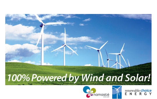Powered by Wind and Solar Boulder Self Storage