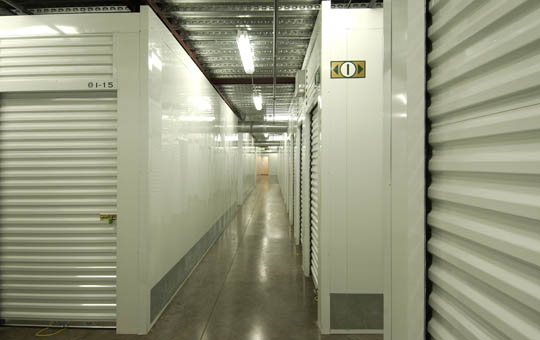 Interior self storage units at Magellan Storage