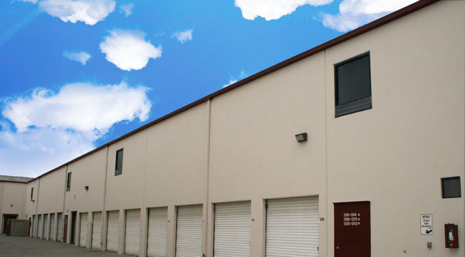 Exterior units a Self Storage facility in San Dimas