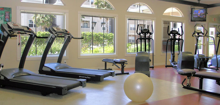 State of the art gym at University Village Apartment Homes