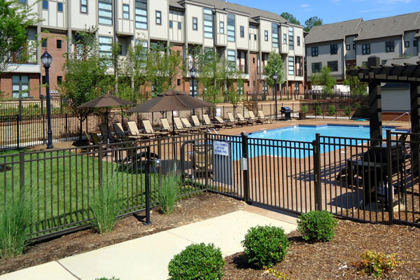 Chapel Hill North Apartments feature a sparkling swimming pool