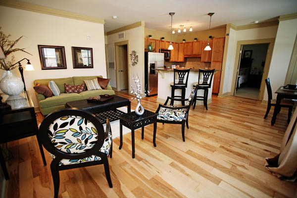 Apartments in Chapel Hill, NC with open floor plans perfect for entertaining