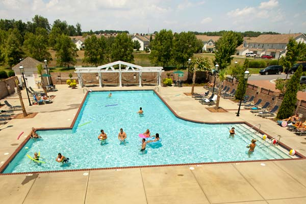 Huge sparkling pool at The Apartments at Birkdale Village, Huntersville apartments