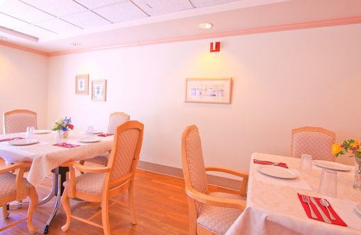 Bright and warm dining area Forest View Transitional Health Center