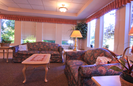 Cozy living room at our Everett senior living