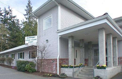 Exterior of senior living facility at our Everett senior living