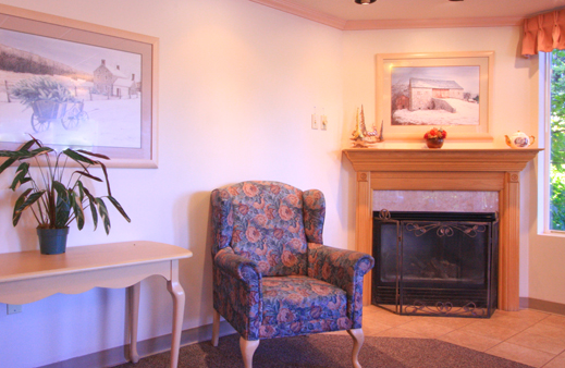 Fire side chair at Forest View Transitional Health Center, Everett retirement living