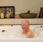 Bath time at Silverado Assisted Living