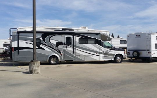 RV parking at self storage in Elk Grove