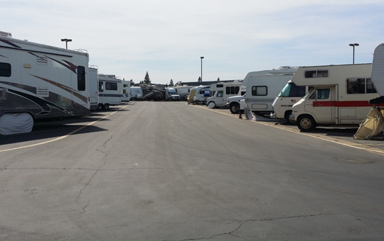 Self storage in Elk Grove has wide driveways for RVs