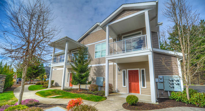 Puyallup apartments has stylish exteriors