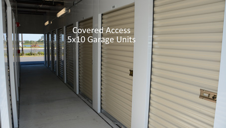 6 covered access 5x10 garage units