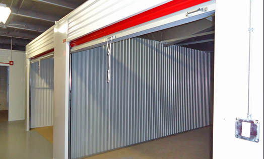 Roll up doors at storage bunker annex
