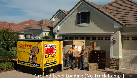 Ground level loading no truck ramp