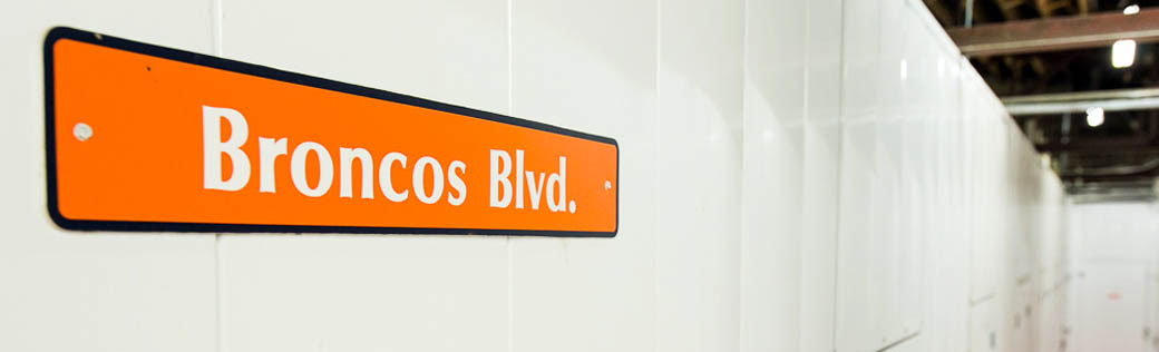 Broncos blvd at self storage in Denver