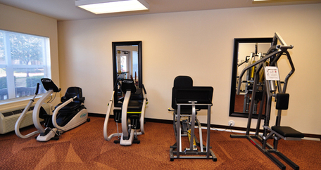 Active fitness room at Acadia Assisted Living
