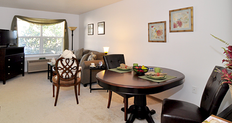 Living Room area at Acadia senior living