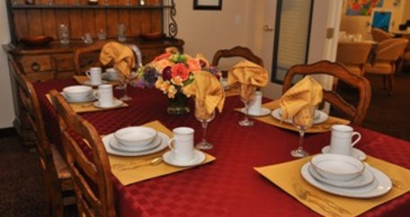 Private dining room at Acadia Assisted Living in Dallas