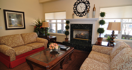 Lobby at Acadia Assisted Living