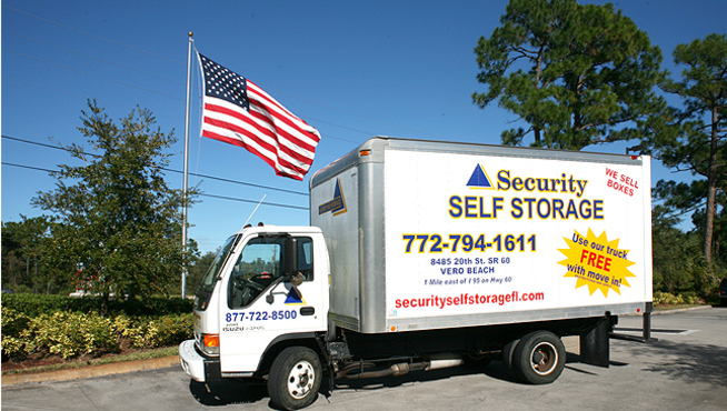 Vero 8 truck Security Self Storage