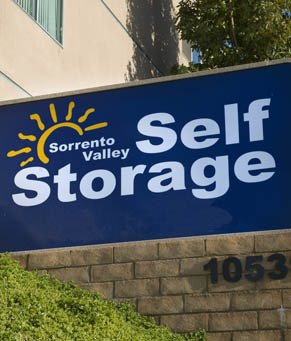 Facility sign Sorrento Valley Self Storage