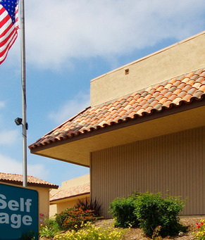 Sign for encinitas self storage
