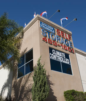 Climate controlled units ca Golden Triangle Self Storage
