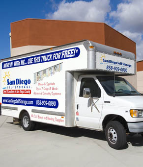 Free moving truck san diego ca Olivenhain Self Storage