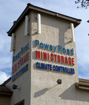 Sign ca Poway Road Mini Storage