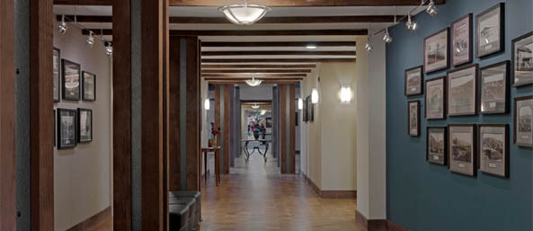 Nh assisted bentely hallway Bentley Commons at Keene - Senior Living