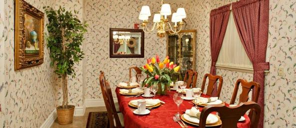 Private dining room Bear Creek Assisted Living